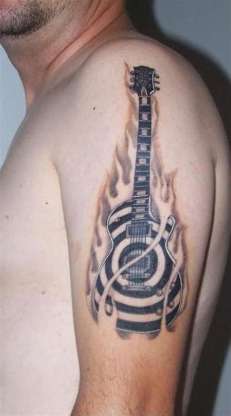 acoustic guitar tattoo acoustic guitar tattoos tattoos