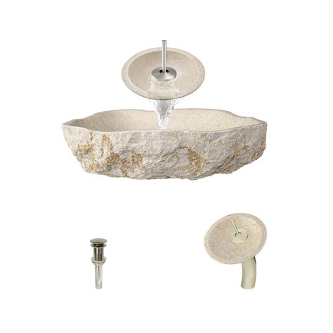 mr direct sinks and faucets mr direct stone vessel in galaga beige marble with