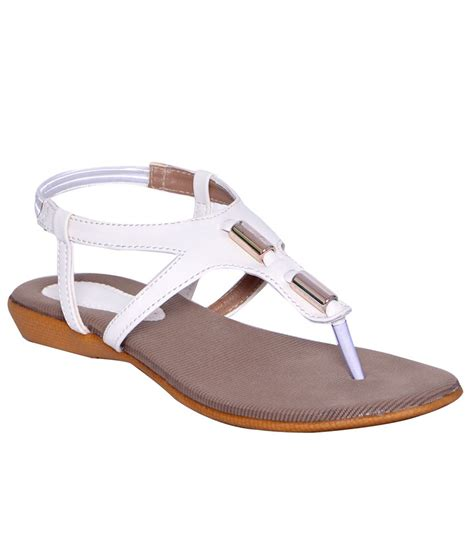 White Sandal fatduck white flat sandals price in india buy fatduck