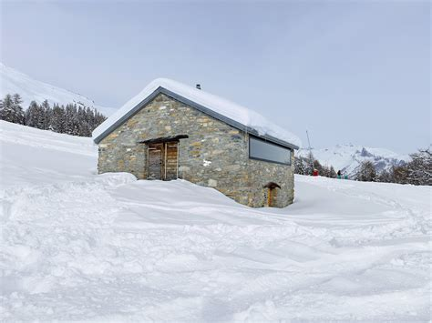 Switzerland Cabin by Gaudin House Barn Transformed Into A Small Cabin In The