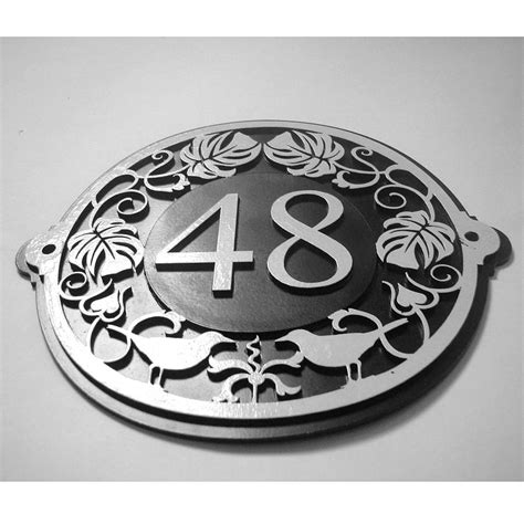 house number plate design art nouveau house number plate by black fox metalcraft notonthehighstreet com