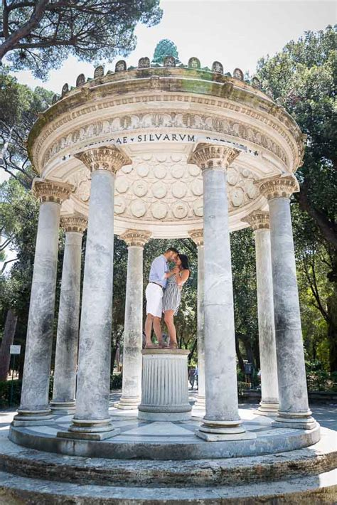 surprise rome proposal love story engagement photography