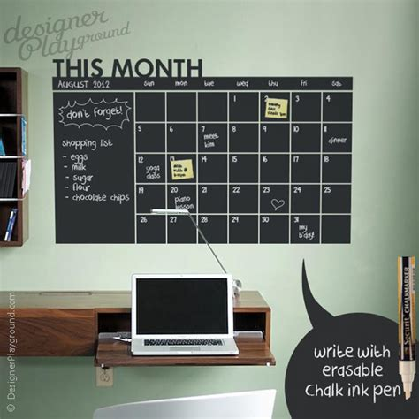 Chalkboard Wall Calendar The Gifts For Almost Anyone On Your List