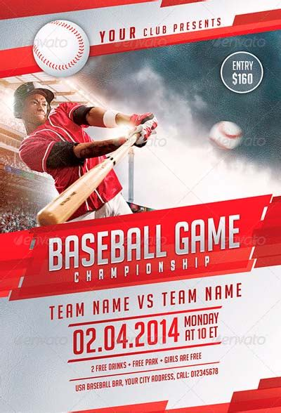 Baseball Flyer Template Psd