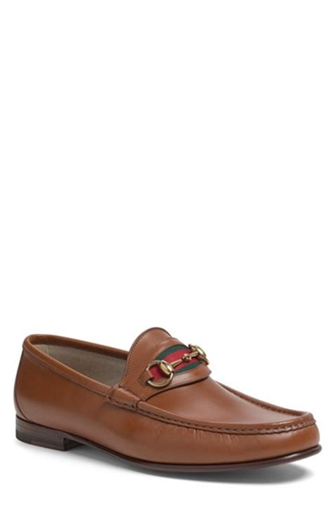 gucci new classic bit loafer in brown for lyst