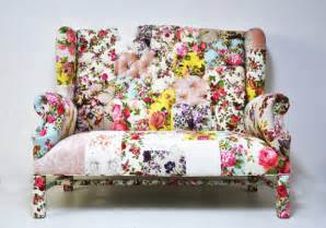 floral wingback patchwork sofa by name design studio