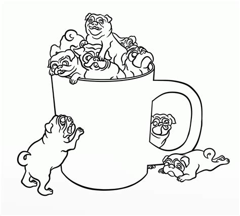 puppies coloring pages pdf pug puppy coloring pages free christmas pug coloring pages