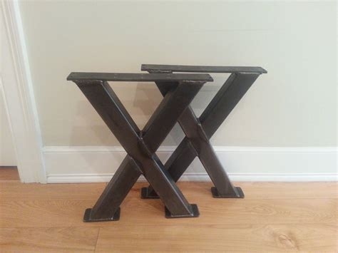 x bench metal legs multi finishes steel by dirtfrogfurniture