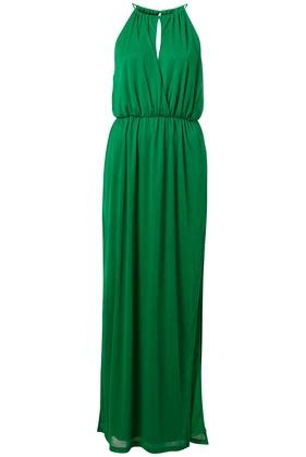 036 Topshop Floral Dress green keyhole maxi dress topshop green wedding