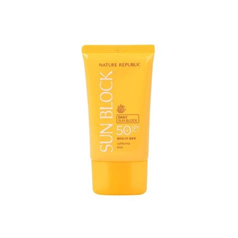 Harga Nature Republic Sunblock Spf 50 nature republic of california aloe daily sunblock spf50