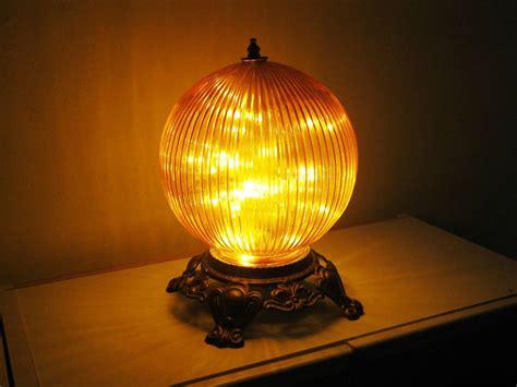 funky orange globe night light  bedside table lamp