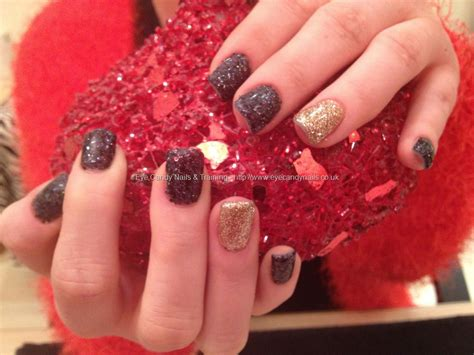 nail art glitter dust tutorial eye candy nails training acrylic nails with glitter