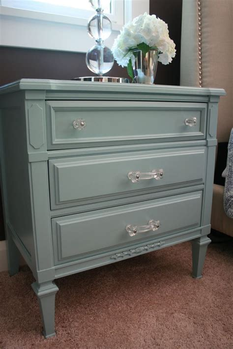 Bedroom Dressers And Nightstands The Paint Color For The Nightstands Is Gulf Winds By Behr At Home Depot Bedroom Update