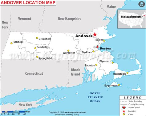 massachusetts map in usa where is andover located in massachusetts usa