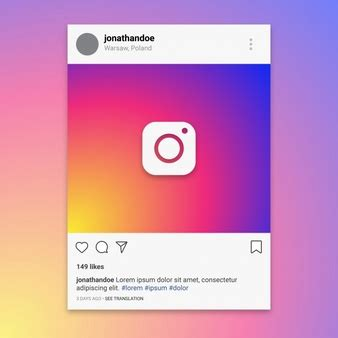 instagram card template instagram vectors photos and psd files free