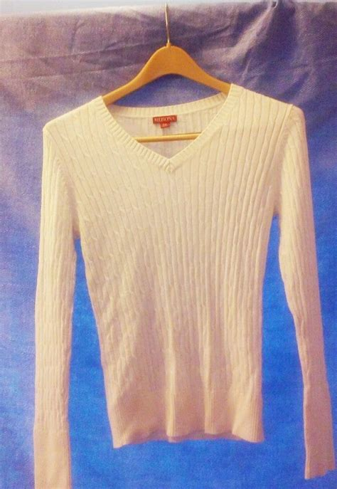merona cable knit sweater euc s sz s p merona ivory sleeve cable knit