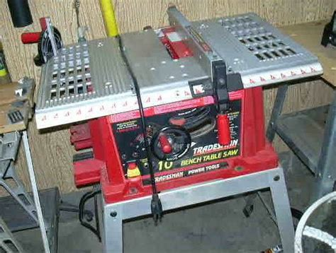 tradesman bench table saw tradesman 10 table saw espotted