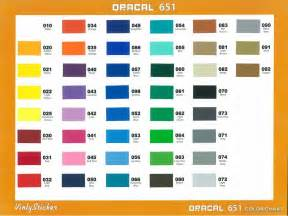 oracal 651 color chart oracal 651 colour sticker botak sign pte ltd