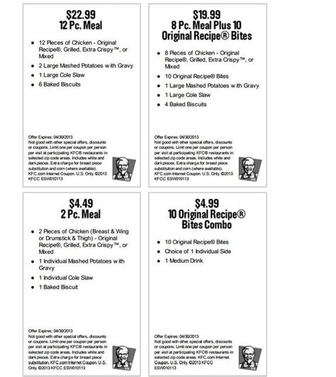 Printable Restaurant Coupons Louisville Ky | 33 best kfc coupons images on pinterest free printable