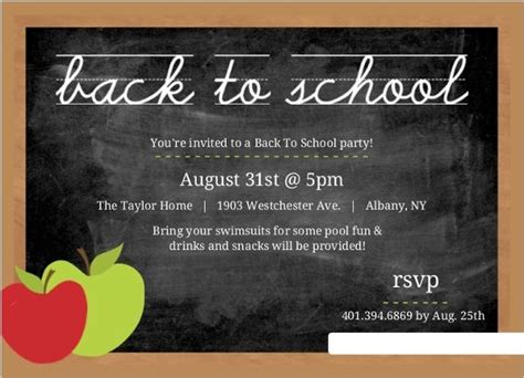 back to school card template image result for new school opening invitation template