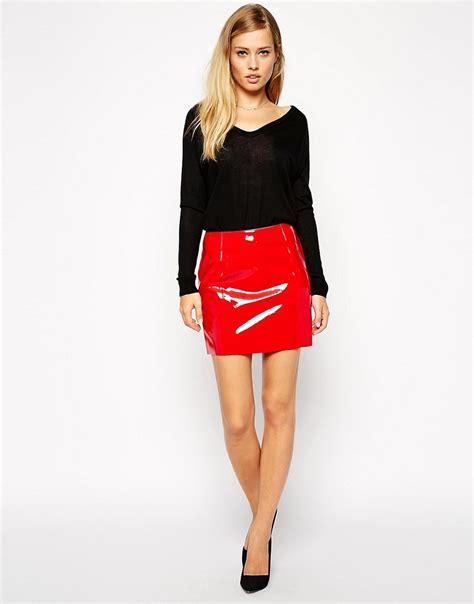 Ultra Mini Asos Ultra Mini Skirt In Patent Pu Mens Gladiator Sandals