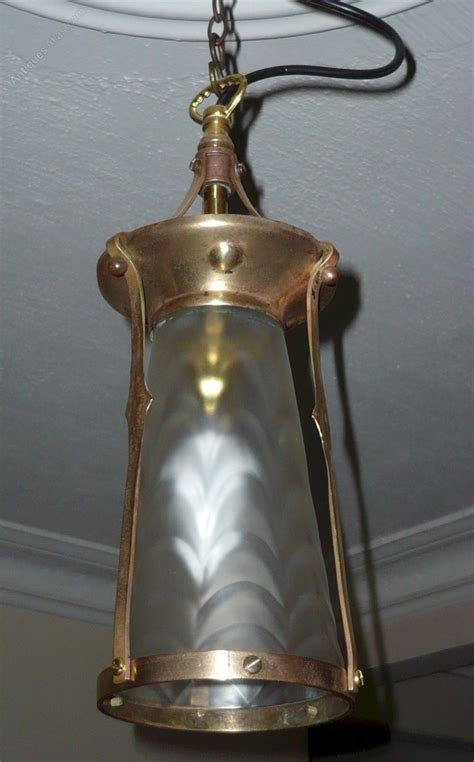 arts and crafts lighting antiques atlas arts and crafts ceiling light in brass