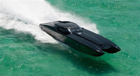 black speed boat zr48 mti corvette speedboat the awesomer