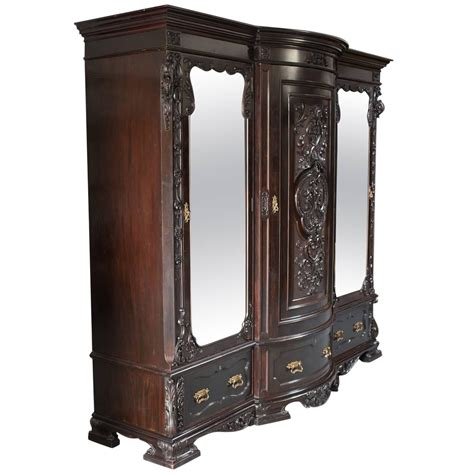 armoire or wardrobe antique english neoclassical inlaid mahogany armoire or