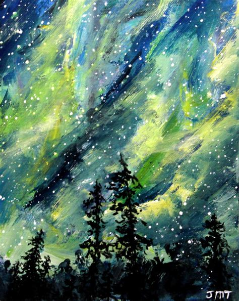 acrylic painting northern lights northern lights original painting acrylic painting 8