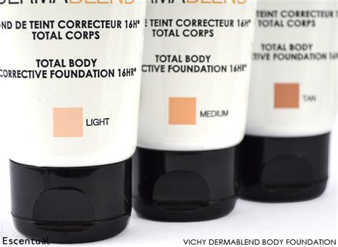 application dermablend leg and foundation vichy dermablend corrective make up collection escentual