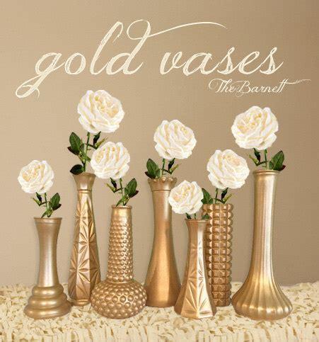 Gold Wedding Vases by Gold Vases Gold Wedding Gold Centerpieces Gold Bud Vase