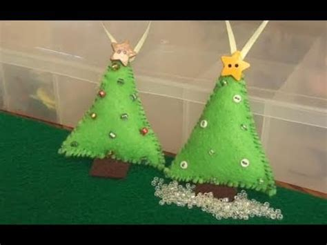 diy felt christmas tree ornament christmas diys
