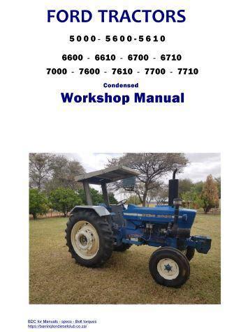 Ford 5000 Tractor Engine Specs Bolt Torques Manuals