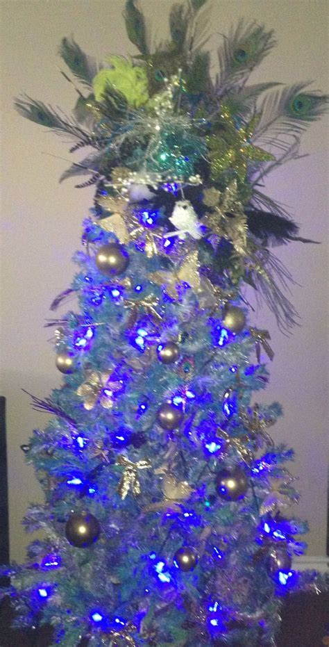 peacock christmas tree christmas trees decorated pinterest