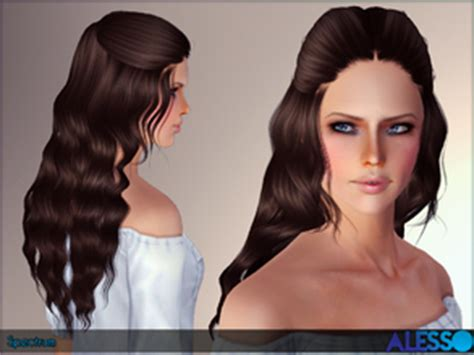 download wavy hair for sims 3 sims 3 downloads long curly hair