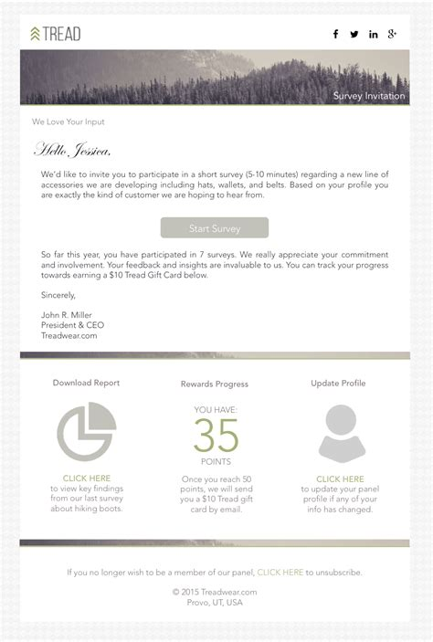 survey invitation email template why your research panel doesn t need a login portal