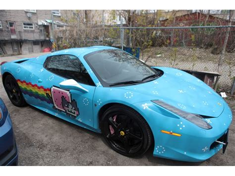 Deadmau5 Lamborghini Deadmau5 S Nyan Cat 458 Spider For Sale Gtspirit
