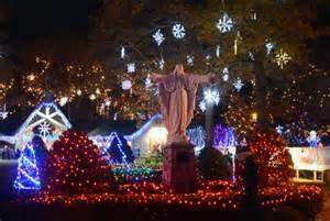 la salette attleboro lights attleboro s lasalette shrine opens new season of lights