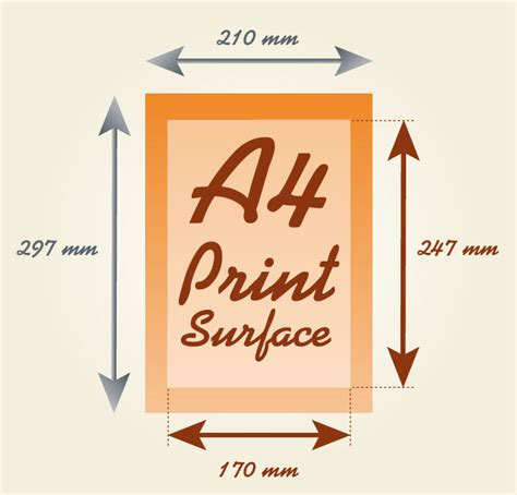 printable area in a4 a4 paper size all informations about a4 sheet of paper