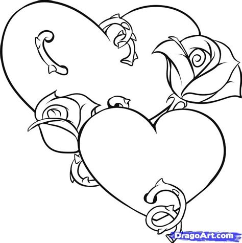 hearts and roses coloring pages coloring home