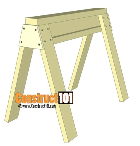 How To Make Picnic Bench by Sawhorse Plans Pdf Download Construct101