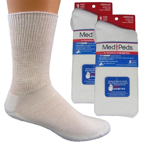 diabetic socks medipeds diabetic wide crew sock 1pr clothing