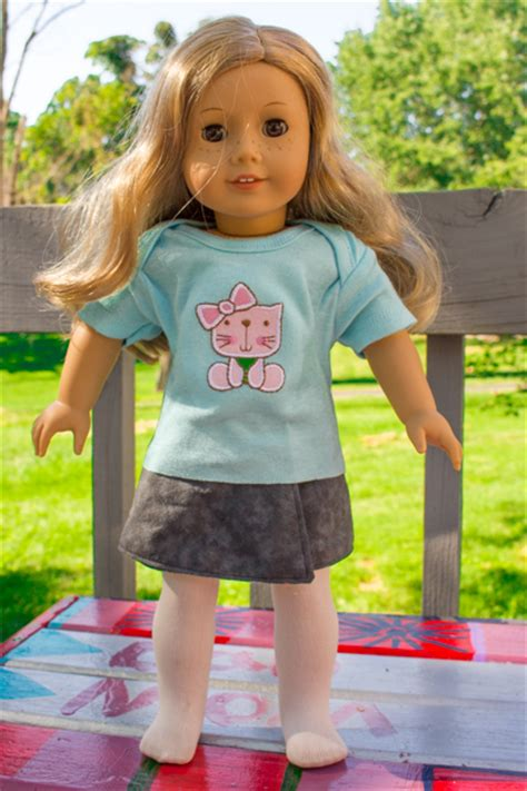 How To Make American Doll Stuff Out Of Paper - no sew american doll t shirt tutorial