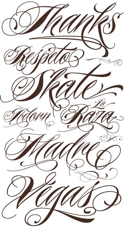 tattoo fonts characters art designs