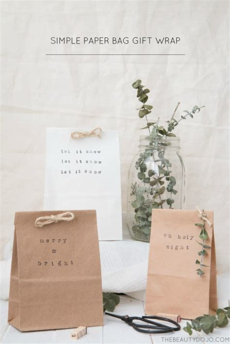Simple Paper Bag - simple paper bag gift wrap crafts
