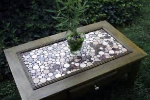 tisch mit fliesen coffee table circular marble tile mosaic by