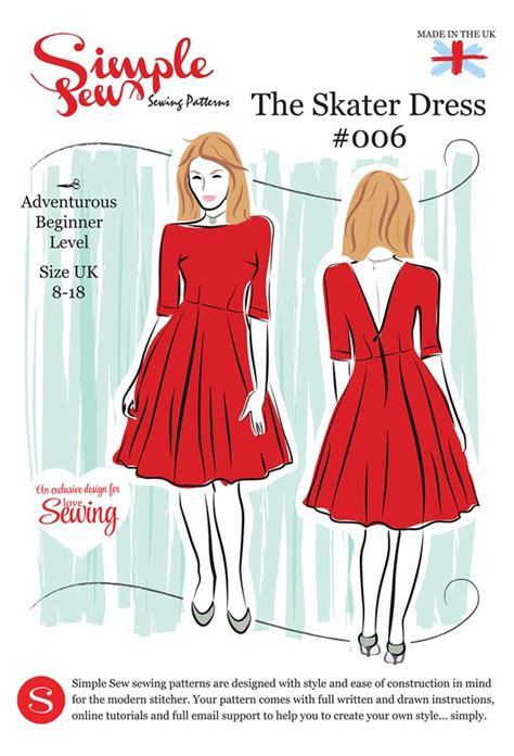 sewing pattern envelope lesson plan simple sew ls08 skater pattern envelope free with issue