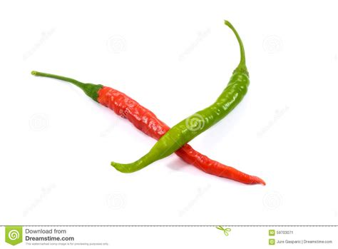 wallpaper of green chillies red and green chili hot peppers on white background stock