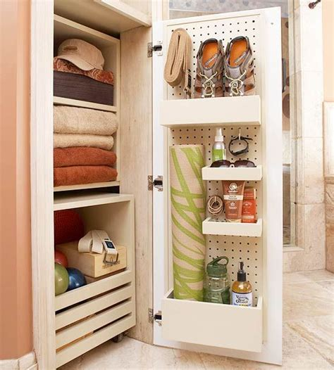 bathroom closet storage ideas ultimate storage packed baths creative peg boards and