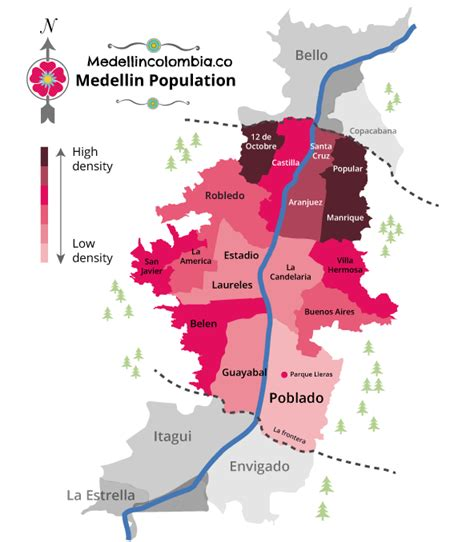 medellin map population of medellin medellincolombia co